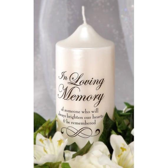 In Loving Memory Candle Decal DIY Memorial Candle Wedding