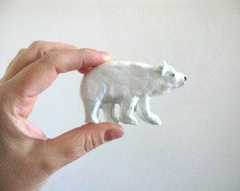 Polar Bear Drawer Knob - Ceramic