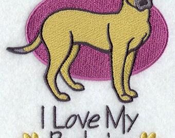 I Love My Belgian Malinois Embroidered Flour Sack Hand/Dish Towel