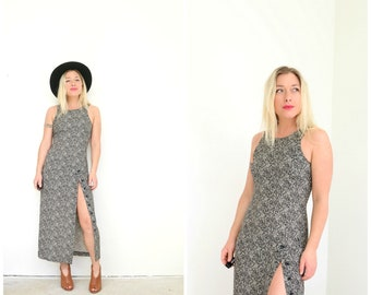 1990s Expo Floral Dress // Size Extra Small to Small