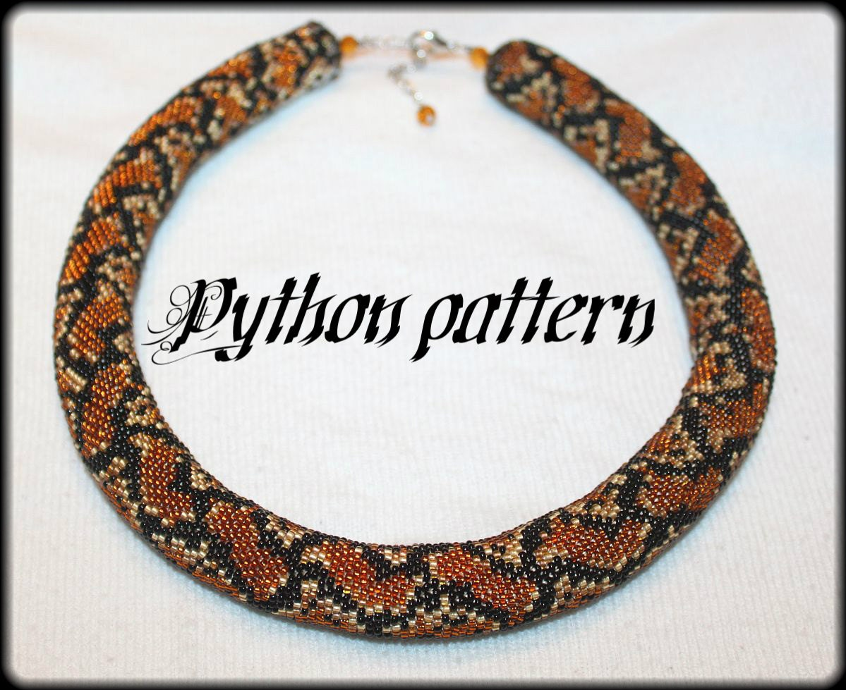 Python snake skin bead crochet rope necklace pattern zoom bankloansurffo Image collections