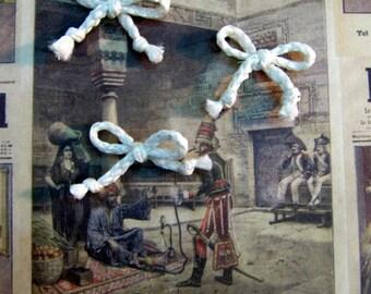 White rope knot scrapbooking vintage retro