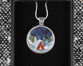 Illustrated Necklaces- Adventure Outdoors Explorer Scenes