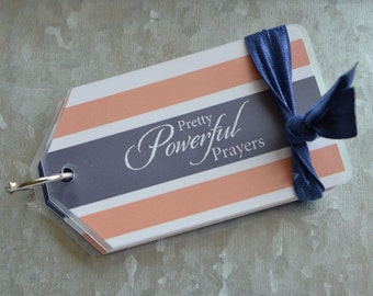 Prayer Card set - Coral Stripe
