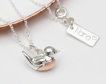 Mother's Day Robin Red Breast Necklace