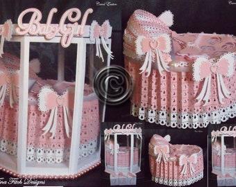 Baby Cradle & Box, SVG, MTC,Cricut, Cameo ,ScanNCut,Scal