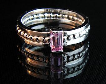 Think Pink - pink Sapphire gemstone ring