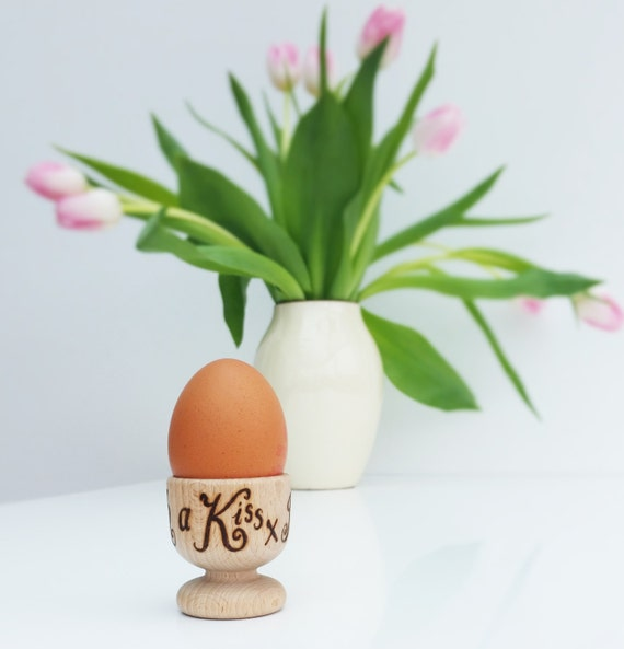 Personalised Easter Egg Cups Wooden Anniversary Gift Custom