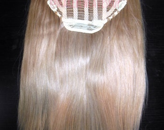 """20"""" 100% Russian Remy Human Hair One Piece Half Head Wig Clip In Hair Extension Premium Quality"""