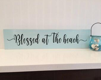 Wood beach sign beach blessing beach decor coastal decor nautical decor beach house ideas beach sayings beach gift beach life beach quote