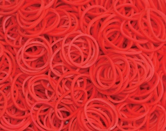 Red ** Rainbow Loom Bands Refill. 600 bands & c-clips. Guaranteed authentic. Latex-free.