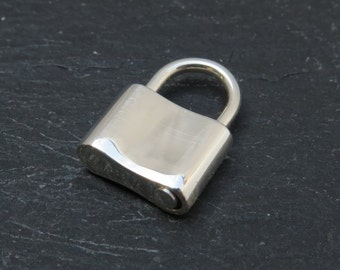 Sterling Silver Padlock Clasp 16mm