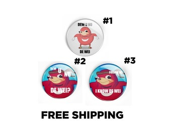 Ugandan Knuckles Pin - Do you Know the Way meme Badge - I know the way Sonic Inspired internet meme Funny joke Pinback Button
