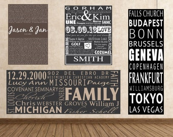 your words on canvas lyrics on canvas custom quotes personalized word art family memories canvas wall art vintage subway sign