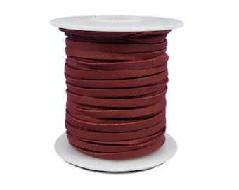 Red Deerskin Lacing - (1) 50 foot spool, 1/8th inch lace.  Deerskin lace. (297-18x50RD2)