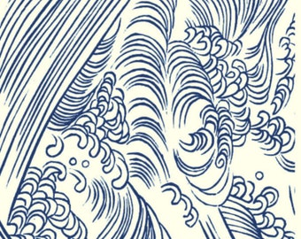 """A429 ( Making Waves ) for the Rolling Mill, Low Relief Pattern.  2"""" X 3.5"""""""