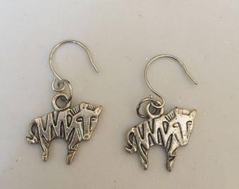 Silver Zebra Earrings