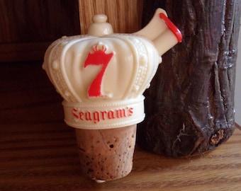 Seagram's 7 Crown Liquor Bottle Pourer, Whiskey Bottle Pour Spout, Plastic Bottle Cork Dispenser