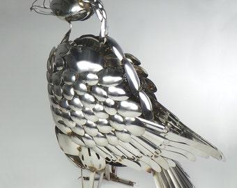 Stunning OOAK Cutlery Golden Eagle