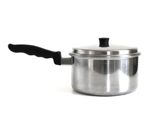 Nicro Ware Solid Stainless Steel Cookware 3 Qt Saucepan Pots Pans