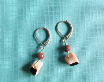 Dainty little shell drop earrings