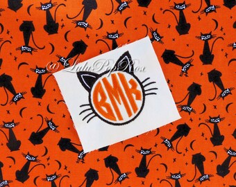 Halloween Cat Machine Embroidery Digital Design INSTANT DOWNLOAD