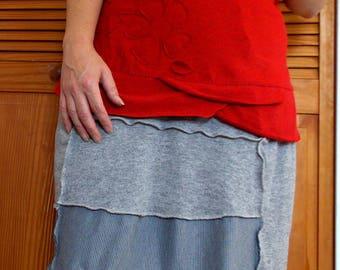 Blossom Tunic Shirt Sz. M Heathered Red Medium Womens Clothing Summer Top Tank