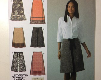 Simplicity Sewing Pattern 4036 Misses Skirt with Length and Trim Variations Size 6-14