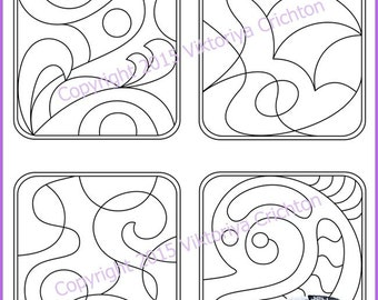 Strings for drawing zentangles. Tangle pattern printable string, PDF.
