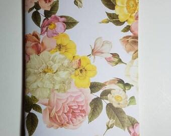 Vintage Rose Garden Traveler's Notebook Insert