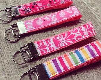 Pink Key Fob - Wristlet - Key Chain