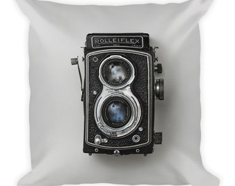 Rollieflex - Square Throw Pillow