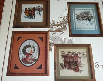 Vintage Puckerbrush Presents A Song For Christmas Cross Stitch Leaflet