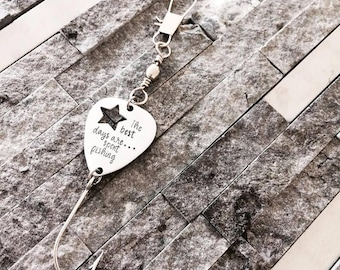 Fishing Lure / Gift for Him / Fishing gift / Dad Lure / Hand Stamped Lure / Fathers Day Gift / Tackle gift / Hand stamped fishing lure