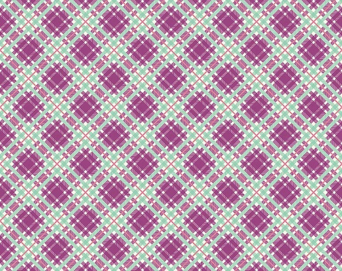 Prim and Proper Fabric by Lindsay Wilkes from The Cottage Mama for Riley Blake Designs and Penny Rose Fabrics - Purple Plaid