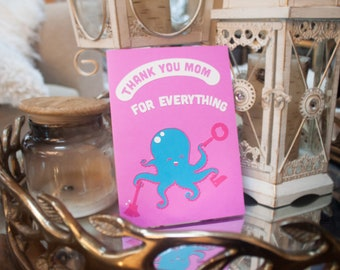 Mom Octopus Thank You Card