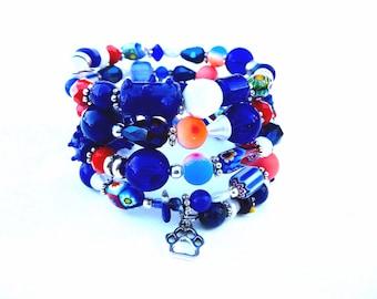 CHEERS Coil Beaded Bracelet by Beading Divas fundraiser