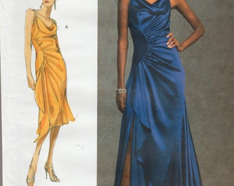 Vogue Designer Original 1031 / Out Of Print Sewing Pattern By Bellville Sassoon / Evening Gown / Dress / Sizes 6 8 10