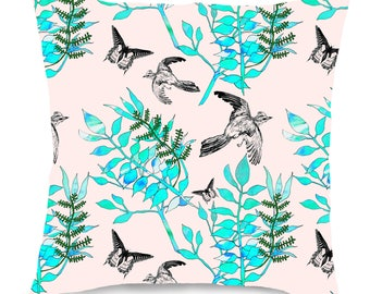 Botanical Bird Cushion - 3 colourways