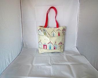 Oilcloth Tote Bag, oilcloth bag, beach bag, shopping bag, tote, handmade tote bag