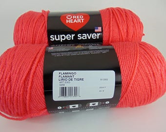 Flamingo -  Red Heart Super Saver yarn 100 % acrylic worsted weight - 4360