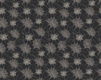 Trick or Treat from Penny Rose Fabrics - Full or Half Yard Spider Webs on Black - Halloween Webs