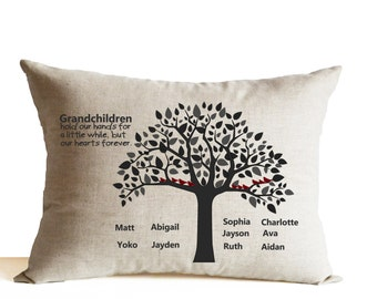 Grandparent Gifts, Personalized Gift, Grandma Grandpa Pillow, Grandparents Pillow, Gift For Grandparents, Nana and Papa Gift from Kids