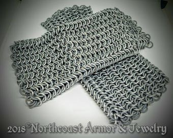 Custom Chain  Mail Bracers