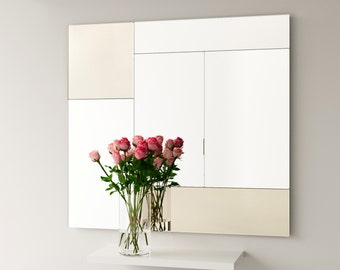 Custom 50 x 52 golden Deco mirror