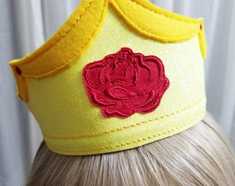 Beauty & Beast Personalized Crowns, Belle Crown, Beast Prince Adam Crown, Personalized Kids Tiaras, Dress up Crowns, Kids Crowns for Play