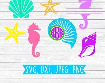 Summertime Svg, Summer time Svg, Summer Sun Svg, Summer Svg cut file, Beach Monogram Summer Beach SVG DXF PNG files for, Silhouette, Cricut