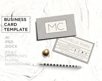 Geometric business card template / modern calling card design / creative business card (geometric background )
