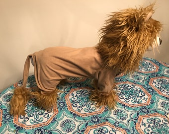 Full body lion dog costume up to approximateky 18 pounds
