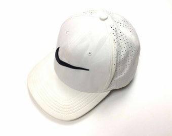 Vintage NIKE SWOOSH Cap Hats Big Logo White Sportwear Casual